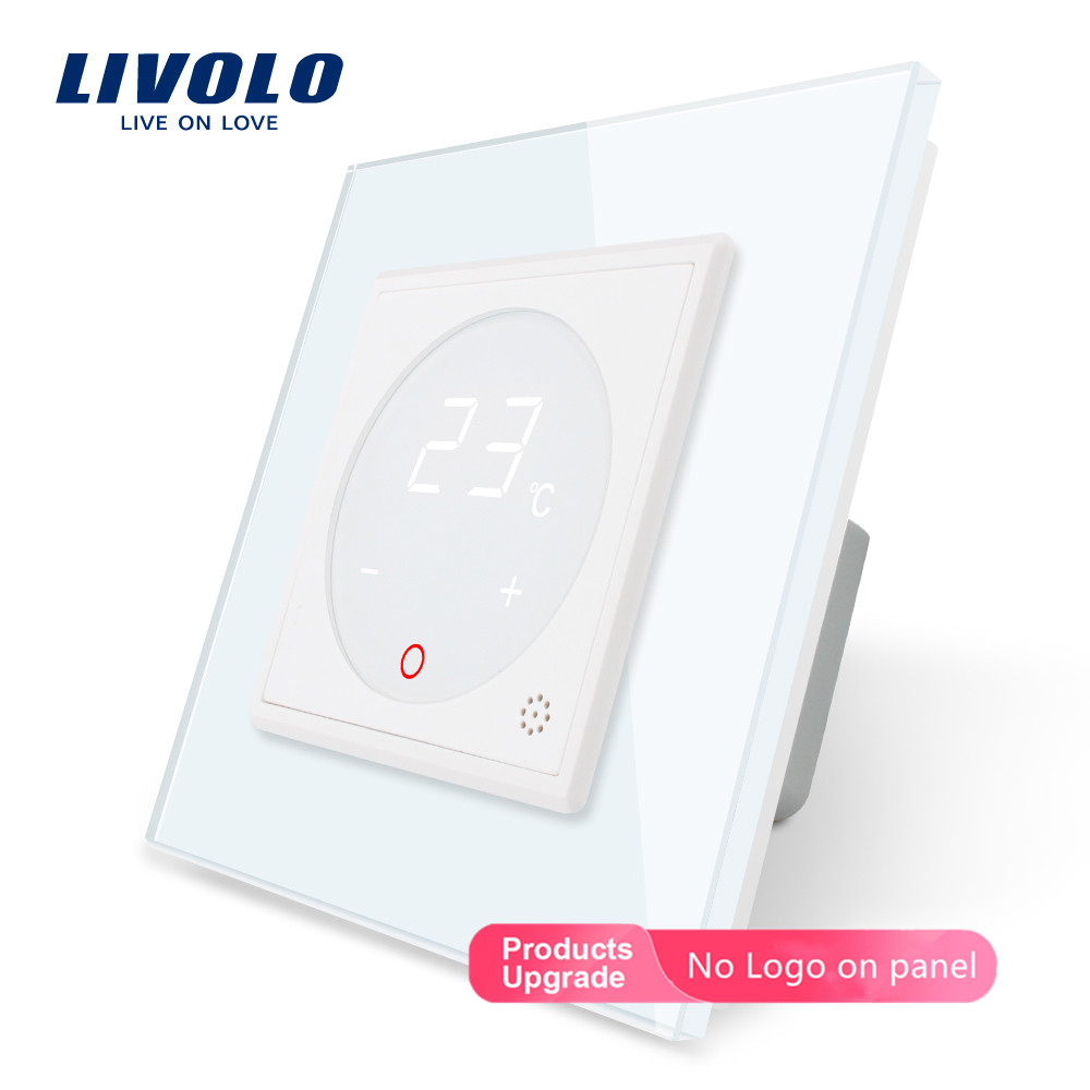 Livolo Smart Thermostat  EU Standard  Temperature Control, Floor Heating Thermostat ,4 Colors Crystal Glass Panel , AC 110-250V
