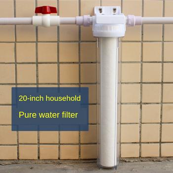 1 2 #8222 3 4 #8221 filtr przedni filtr wstępny gospodarstwa domowego filtr do wody cały dom woda z kranu filtr filtr do wody duży przepływ 20 Cal tanie i dobre opinie prefilter 6000L h 20 inch whole house