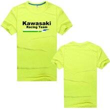 Летние мужские быстросохнущие спортивные футболки Kawasaki с коротким рукавом, мужские быстросохнущие дышащие повседневные футболки, новые мотоциклетные футболки