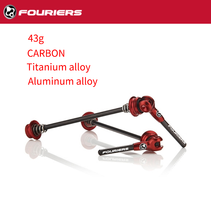 Fouriers Alloy Full CNC Ultra Lightweight Road Quick Release Red QR-S002-003