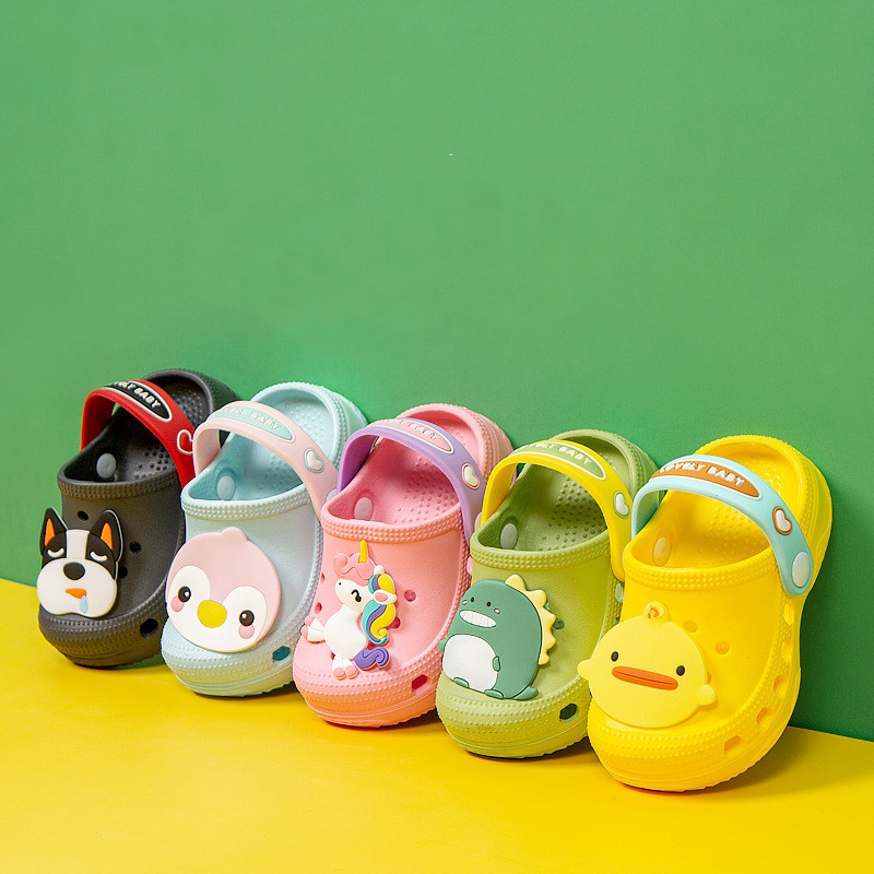 Unicorn Shoes For Kids Summer Boys Girls Non-Slip Outdoor Beach Sandals Baby Cartoon Animals Slippers Water Cave Shoes