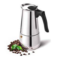 Coffee Stovetop Espresso Maker, Stainless Steel Moka Pot Machine, Professional Barista Tools