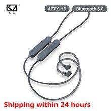 KZ Bluetooth 5.0 이어폰 Aptx HD CSR8675 모듈 헤드셋 업그레이드 케이블 적용 헤드폰 KZ AS10 ZST ES4 ZSN ZS10 AS16 ZSX C12