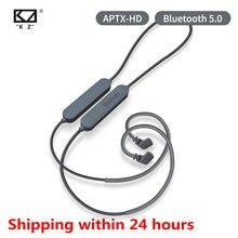 Kz bluetooth 5.0 fone de ouvido aptx hd qcc3034 módulo cabo atualização aplica fone de ouvido kz as10 zst es4 zsn zs10 as16 zsx c12