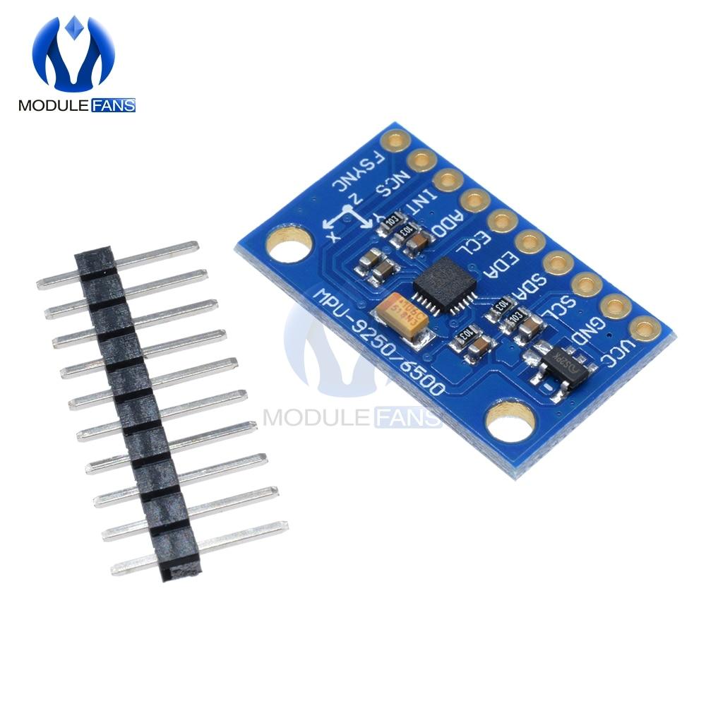 Acelerómetro Módulo Sensor Magnetómetro I2C 9DoF MPU-9250 9-Axis Giroscopio