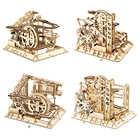 Robotime ROKR marble гоночный лабиринт, шарики, трек, сделай сам, 3D Деревянный пазл, модель американских горок, строительные наборы, игрушки для детей,...