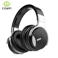 Cowin auriculares E7MD con cancelación activa de ruido, auriculares inalámbricos con Bluetooth por encima de la oreja, manos libres, con micrófono, para teléfono, 30H de tiempo de reproducción