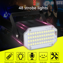 48 LED RGB UV White Strobe Lights Disco DJ Party Holiday Christmas Music Club Sound Activated Flash Stage Lighting Effect(China)