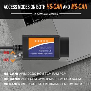 Image 5 - ELM327 V1.5 PIC18F25K80 HS MS יכול ELM 327 OBD2 USB מתג סורק עבור פורד Forscan ELMconfig רכב אוטומטי אבחון סריקה כלי