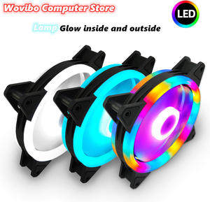Radiator Heatsink Fans Computer-Cooling-Cooler 120mm Colorful Fluid-Bearing for Diy RGB