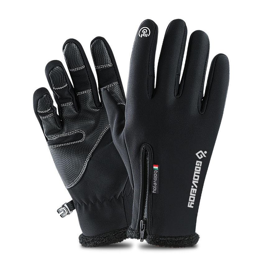 H0453a964fe584a8881d93b3570194294Y - 5 Size Cold-proof Unisex Waterproof Winter Gloves Cycling Fluff Warm Gloves For Touchscreen Cold Weather Windproof Anti Slip