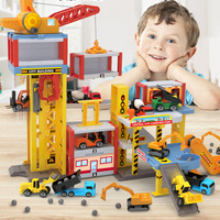 Children Engineering Vehicle Construction Parking Lot Playset Educational Toy Diecasts & Toy Vehicles Engineering Car