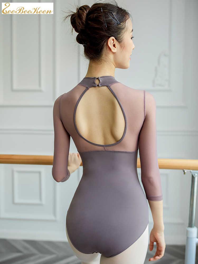 בלט בגד גוף נשי אימון תלבושות התעמלות אוויר יוגה Slim בגד גוף בלט לנשים ריקוד סרבל למבוגרים