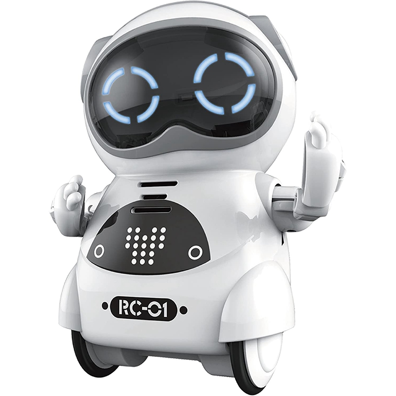 Mini RC Pocket Robot for Kids with Interactive Dialogue Conversation, Voice Recognition, Chat Record, Singing& Dancing