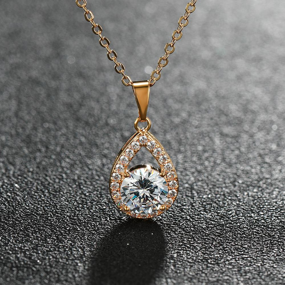 Women/'s water dorp Necklace Double-layer diamond-studded star Party Jewelry Gift