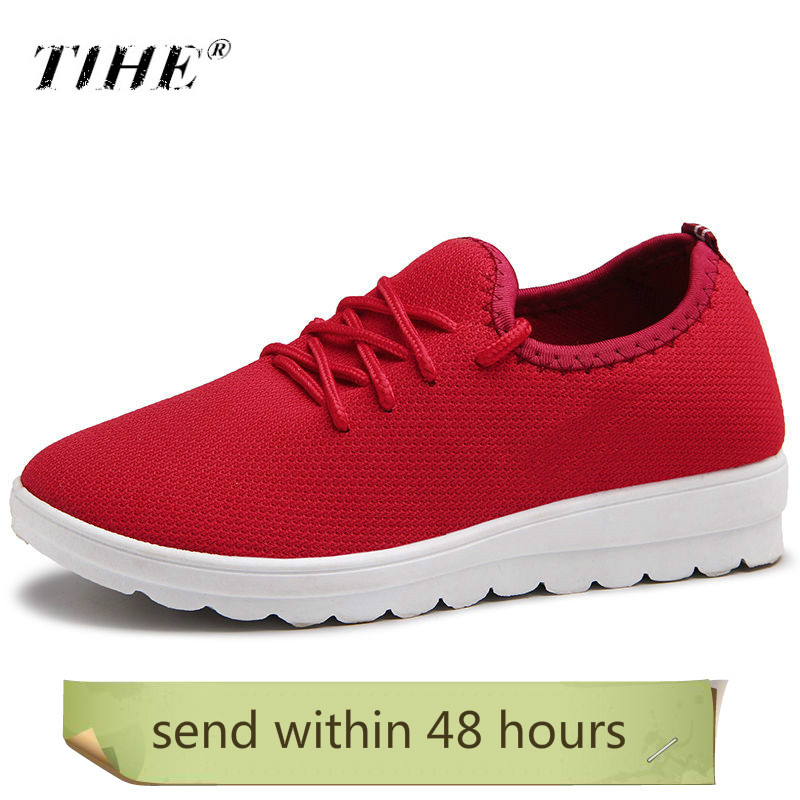 Summer Sports Shoes Women Sneakers Light Soft Flat With Mesh Casual Shoes Woman Outdoor Slip-on Solid Running Women Shoes Cheap