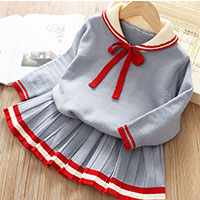 H0453f1b6d63241b3a287a834634aef91t Bear Leader Girls Dress 2019 Winter Geometric Pattern Dress Long Sleeve Girls Clothes Top Coat+ Tutu Dress Sweater Knitwear 2pcs