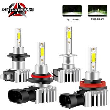 2 шт. светодиодный автомобильный светильник H4 H1 H3 H7 H11 H8 H9 9005 HB3 9006 HB4 9012 HIR2 авто противотуманный светильник Hi/Lo луч белый 6500K 12000LM