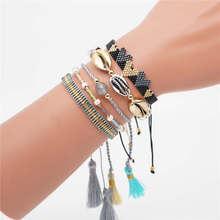 Go2boho MIYUKI Heart Bracelet Women Pulseras Mujer 2019 boho Chic Miyuki Jewelry Shell Handmade Bileklik Summer Beach