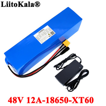 48V 12Ah 18650 E-bike battery li ion battery pack bicycle scoot conversion kit bafang 1000W XT60/T plug with Charger bicycle battery 24v 12ah 6s6p lithium battery 25 2v 12ah lithium ion rechargeable battery 350w e bicycle 250w with 2a charger