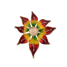 Gariton Red Yellow New Vintage Sun Flower Brooches For Man Women Zinc Alloy Jewelry Accessories