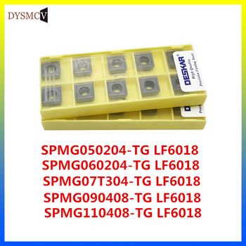 10PCS  DESKAR SPMG050204 SPMG060204 SPMG070308 090408 110408-TG LF6018 U drilled carbide inserts can be used for stainless steel - discount item  62% OFF Machinery & Accessories