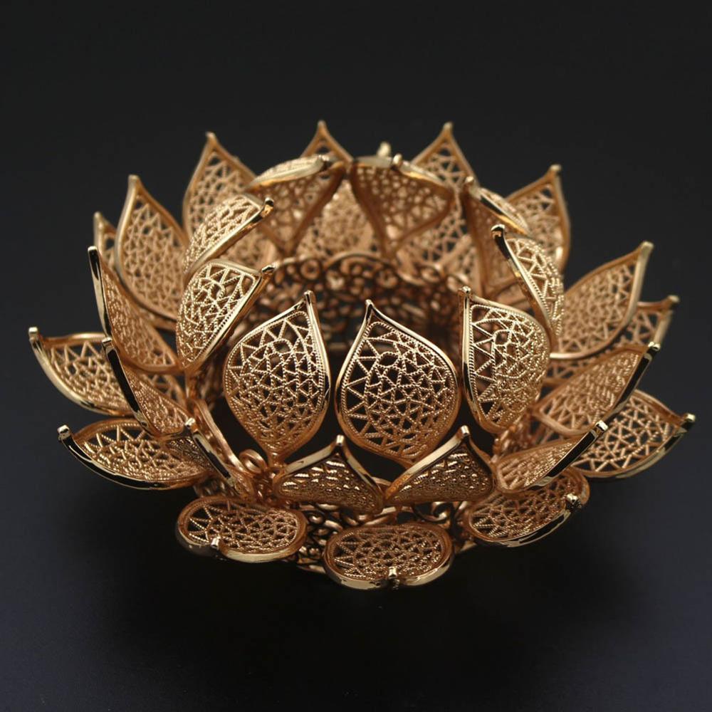 2 latão casted 3 camada flor de lótus coronets tiaras cabeça do cabelo rainha coroa acessórios para o cabelo headpiece jóias decoração
