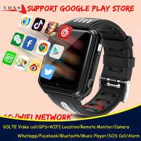 Inteligente 4G GPS niños estudiantes Bluetooth cámara de música reloj de pulsera Whatsapp Video llamada localizador GPS con pantalla ubicación Android reloj de teléfono