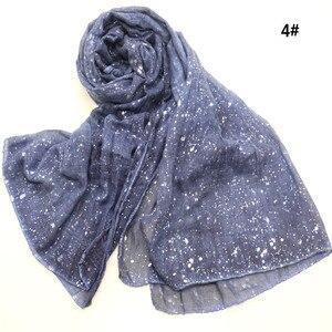 Image 4 - Новый мусульманский хиджаб 90*180 см, шарф для женщин, исламский мягкий Блестящий головной платок, женский платок, простые шали и палантины, Женский палантин