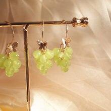 2020 новые акриловые милые серьги в виде винограда, большие длинные серьги-капли, модные украшения в виде тропических фруктов