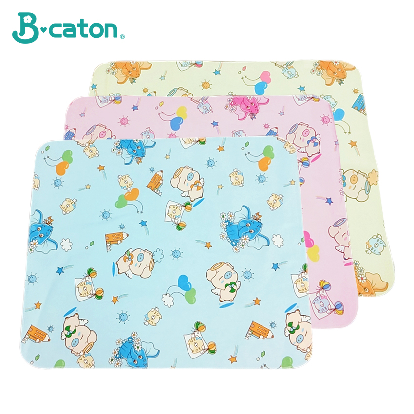 Flannelette Baby Mat Changing Pad Cover Baby Urine Changing Pad Baby Bedding Waterproof Pad Soft Water Absorptiondoublesided Use