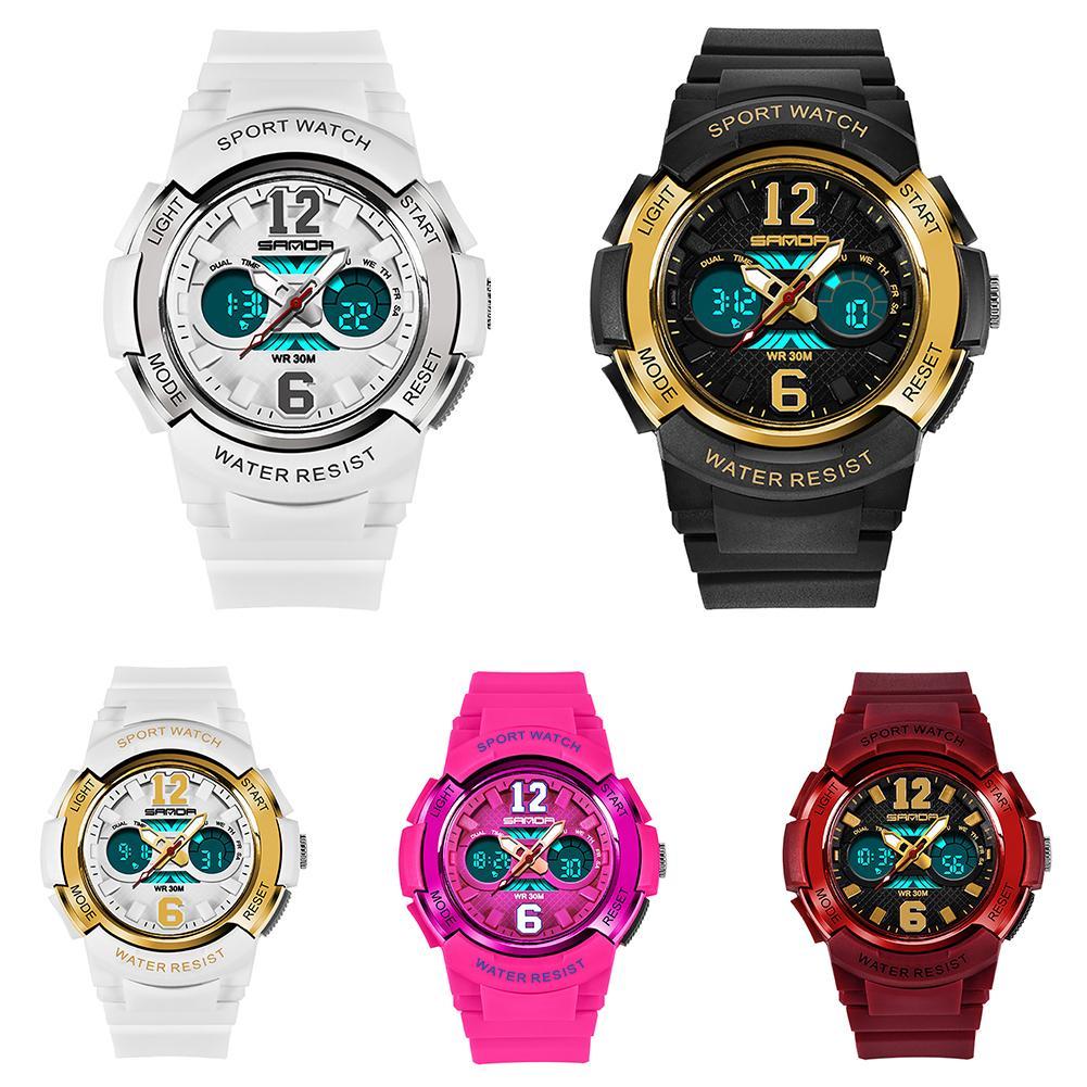 Kids Sports Watches Digital Wrist Watch For Children Boys Girls Waterproof Student Multi-function Alarm Watch Montre Enfant 2020