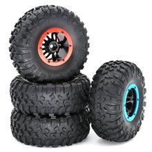 1/10 Remote Control Car Big Climbing Inflatable Tire Upgrade Accessories 2.2 Inch Stainless Steel Wheel Scx10