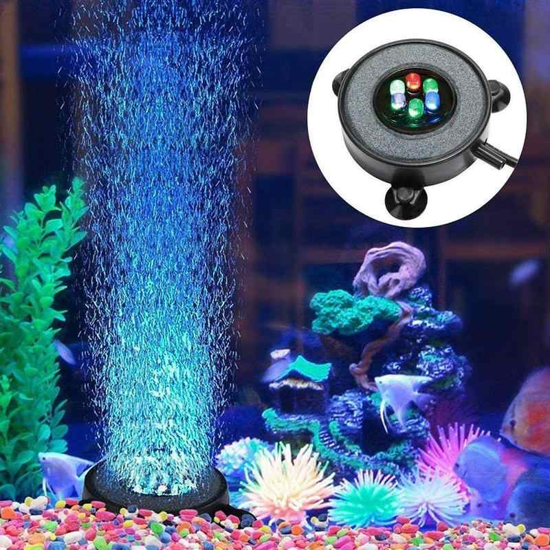 Tahan Air Submersible Gelembung Tirai Lampu RGB 12 Lampu LED Ikan Tank Aquarium Lampu dengan 3W High Output Air Pompa Oksigen supply