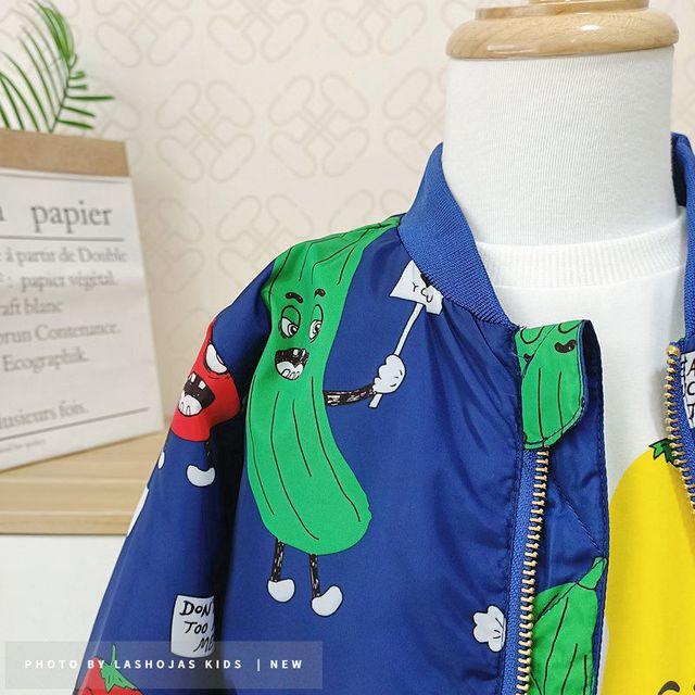 Winter Baby Girls Boys Vegetables Printed long Jacket Kids Keep Warm Thick  Fruits Parkas Coats Children Girls Outerwear Boys Cl 6