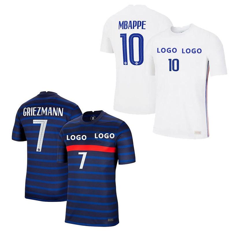 2021 французская футбольная Джерси, футбольные рубашки, футболка для французской команды 20 21 MBAPPE GRIEZMANN KANTE POGBA, Мужская Бесплатная доставка