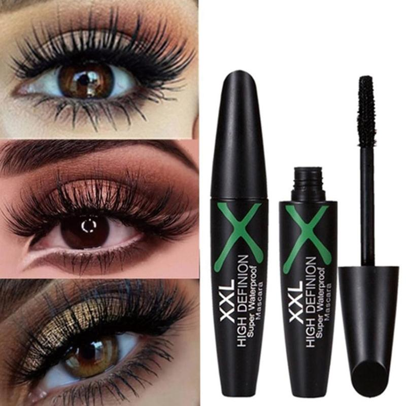 4D Fiber Mascara Long Eyelash Brush Curving Lengthening Mascara Waterproof Long Lasting Makeup Eye Cosmetic image