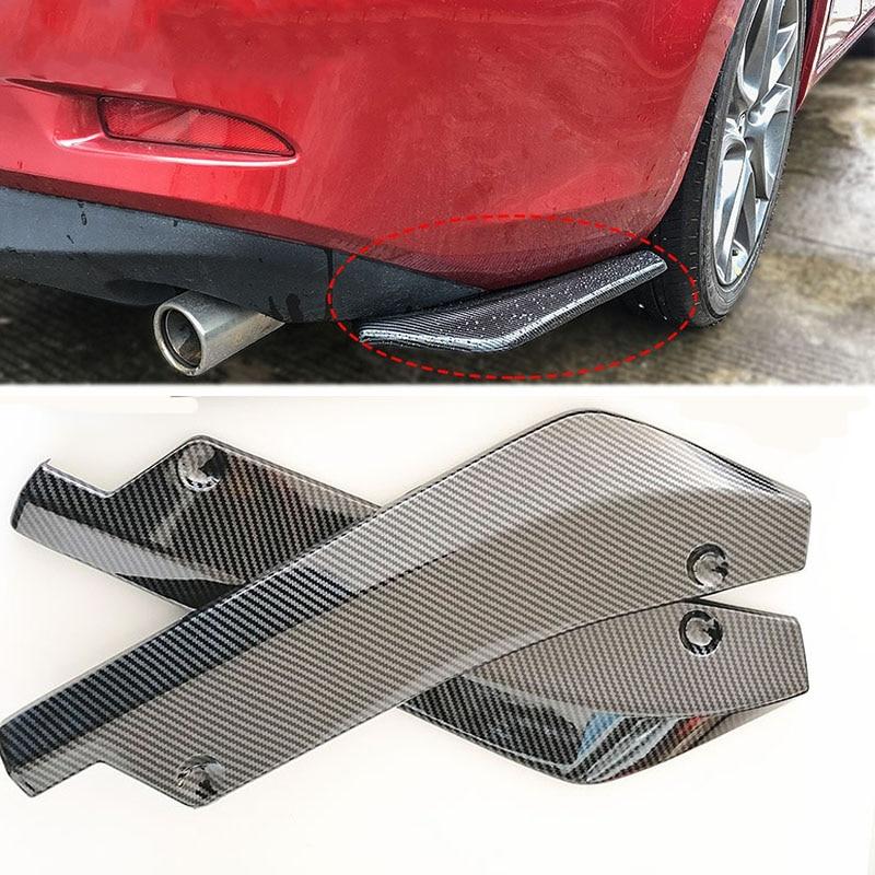 ABS Car Universal rear bumper spoiler diffuser For Mazda 2 5 8 Mazda 3 Axela Mazda 6 Atenza CX-3 CX-4 CX-5 CX5 CX-7