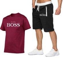 Camiseta + pantalones cortos de playa para hombre, ropa deportiva para correr, camiseta de calle Harajuku, verano 2021