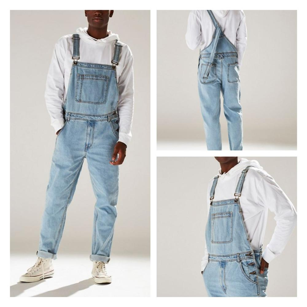 CHANWELL 2019 Mens Jeans Pencil Pants Men's Cool Overalls Casual Denim Working Bib Pants Jumpsuits Rompers Trousers For Men