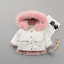 Girl Jacket Jeans Hoodie Boy Coats Fleece Toddler Kids Winter Children Denim Outerwear