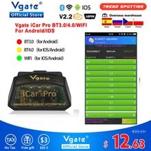 Vgate icar pro OBD2 ELM327 Bluetooth car Diagnostics OBD OBD2 elm 327 OBDII code reader odb2 อะแดปเตอร์วินิจฉัย Hot ขาย