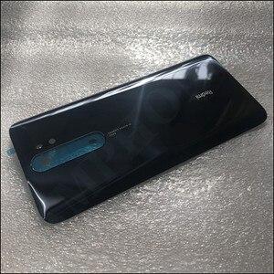 Image 4 - Oryginalna obudowa telefonu 4D obudowa baterii pokrywa dla Xiaomi Redmi Note 8 Pro części zamienne bateria tylna pokrywa drzwi darmowa wysyłka