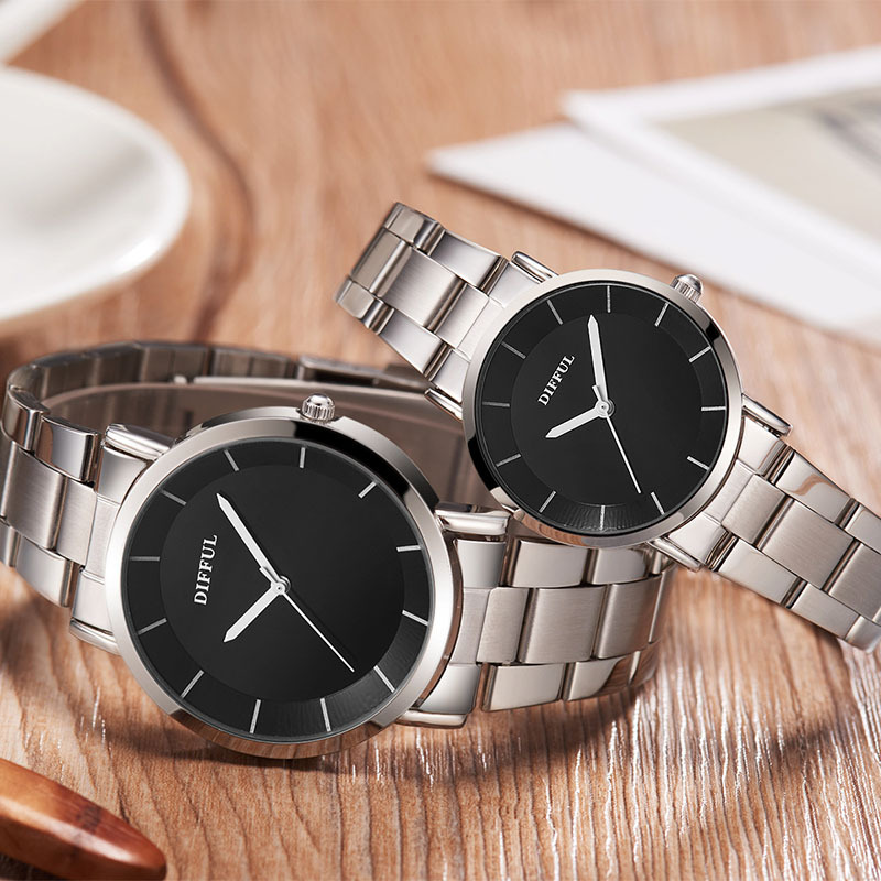 часы мужские 2019 New Fashion Leather Lover's Watches Simple Couple Watch Gifts for Men Women Clock Pareja Pair watch часы