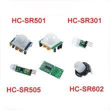 5 pces pir sensor de movimento piroelétrico ir módulo detector movimento HC-SR501 sr301 sr505 sr602 RCWL-0516 para arduino sensor de movimento