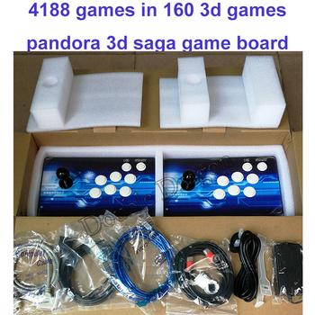 4188 w 1 automat do gier Pandora 3D SAGA 160 gry 3D Retro kontroler 160 * gra 3d VGA HDMI zapisz wyszukiwanie dodaj funkcję gier tanie i dobre opinie Pchacz 3 lat UE Wtyczka 4188 in 1
