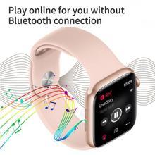 IWO 12 Pro zegarek seria 5 1 1 T600 inteligentny zegarek 44MM połączenie Bluetooth Smartwatch tętno dla Apple IPhone IOS Android PK IWO 11 tanie tanio Slimy Brak Na nadgarstku Wszystko kompatybilny 128 MB Passometer Uśpienia tracker Wiadomość przypomnienie Przypomnienie połączeń