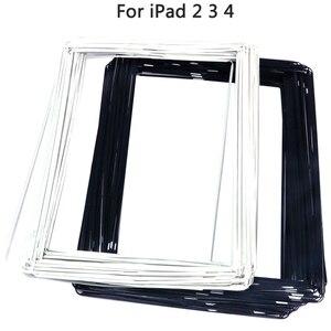 50 шт LCD Рамка для iPad 2, 3, 4 сенсорный экран средняя передняя панель рамка с клейкой наклейкой для iPad 2 3 средняя рамка