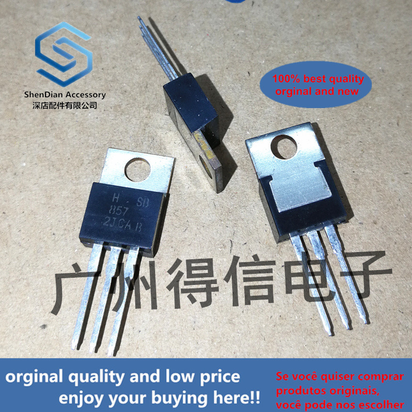 10pcs 100% Orginal New HSB857B SB857 B857 Amplifier Tube 4A 70V 40W Thick Copper Sheet TO-220 Real Photo