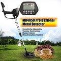 MD4050 Профессиональный портативный подземный металлический детектор портативный Охотник за сокровищами Золотой золотоискатель ЖК-дисплей